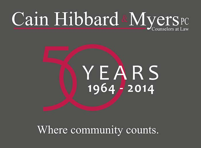 Attorneys Lawyers at Cain Hibbard Berkshires MA serving Great Barrington, Pittsfield, Williamstown 50 years logo